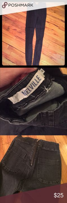 Brandy Melville black high waisted jeans Brandy Melville high waisted black jeans with zipper in back and 2 back pockets. Brandy Melville Jeans Skinny