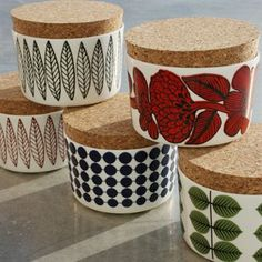 Scandinavian kitchen storage jars