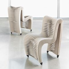 Seat Belt Chairs in Beige by Phillips Collection @phillipsco #seatbeltchair
