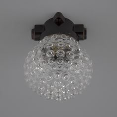 These unusual glass and bakelite ceiling lights were originally manufactured in the Czechoslovakia. A moulded glass enclosures and bakelite wall mounting. Wall Lights, Ceiling Lights, Glass Molds, Glass Design, Czech Glass, Glass Shades, Chandelier, Vintage, Retro