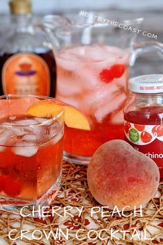 Easy Drink Recipes, Alcohol Drink Recipes, Cocktail Recipes, Cocktails, Peach Drinks, Summer Drinks, Fun Drinks, Beverages, Crown Drink