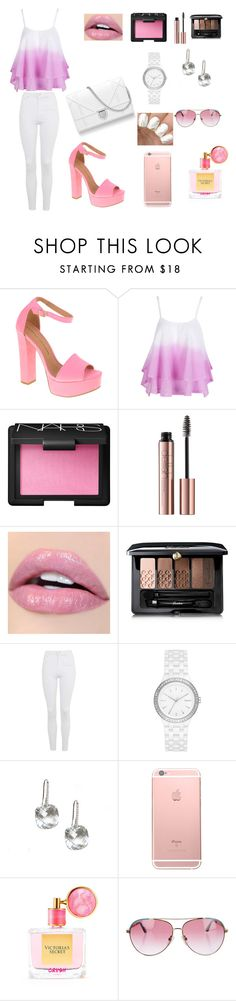 """#summer style"" by angelina-bukova ❤ liked on Polyvore featuring Chinese Laundry, WithChic, NARS Cosmetics, Guerlain, Topshop, DKNY, Victoria's Secret and Minnie Rose"