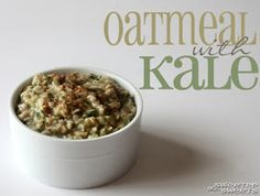 Oatmeal with Kale by Tricia @ SweeterThanSweets
