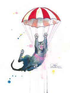 "Lora Zombie --- ""Parachute Cat"""