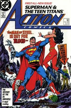 Beginning the post Crisis reboot of Superman. Written and drawn by John Byrne. Check out a DC House ad from 1987 featuring this cover. 5 reasons the John Byrne Superman reboot kicked ass Dc Comic Books, Vintage Comic Books, Comic Book Artists, Comic Book Covers, Vintage Comics, Comic Artist, Arte Dc Comics, Old Comics, Dc Universe