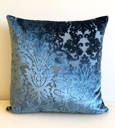 Sapphire Blue Velvet Pillow Cover