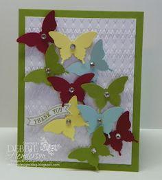 Stampin' Up! Elegant Butterfly by Debbie Henderson, Debbie's Designs.