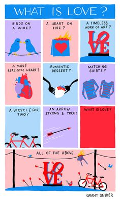 """What Is Love? INCIDENTAL COMICS:  """"The hardest part of writing about love is choosing just one metaphor.""""  http://www.incidentalcomics.com/2013/02/the-hardest-part-of-writing-about-love.html"""