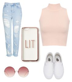 """""""Untitled #28"""" by kayleemaelong on Polyvore featuring WearAll, Topshop, Vans, Linda Farrow and Missguided"""