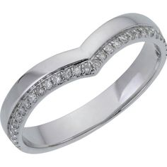 Buy 9ct White Gold 0.10ct Diamond Set Wishbone Wedding Ring at Argos.co.uk - Your Online Shop for Ladies' wedding rings and bands, Ladies' rings, Ladies' jewellery, Jewellery and watches.