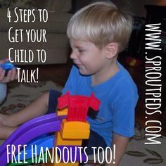 FREE! Speech Therapy advice & handouts for your late talker!