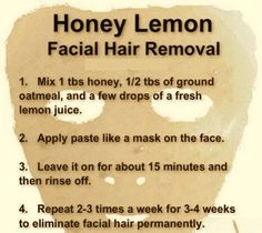 Home Made Facial Hair Removal Mask