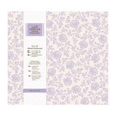 DoCrafts - Papermania - Capsule Collection - French Lavender - 12 x 12 Postbound Album