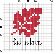 Cross Stitch Pattern: Fall in Love - Crafts Unleashed