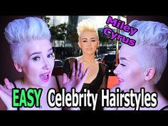 Miley Cyrus | EASY Celebrity Hairstyles | A Poisoned Production - YouTube