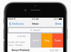iOS Tip: Learn how to mark, flag, or delete mail with a swipe.