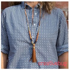 Learn how to make this bohemian Leather Tassel Necklace