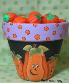 Silly Pumpkin Pot ePacket - Susan Kelley - PDF DOWNLOAD