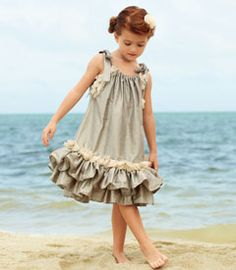heirloom silk dress- basically pillowcase style with some ruffles.  Dear load, I need a daughter!!!!