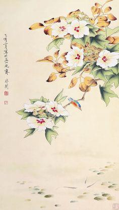 Yu Feian(于非闇) , 工笔花鸟
