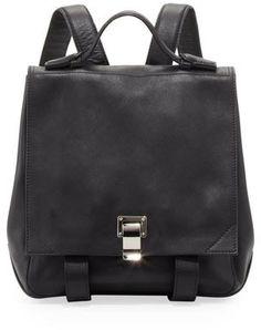 Proenza Schouler Medium Leather Backpack, Black on shopstyle.com