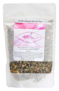 Malibu Beach Beauty Tea by NewportSkinnyTea on Etsy