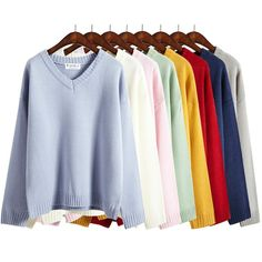 "Fashion v-neck knitting sweater  Coupon code ""cutekawaii"" for 10% off"