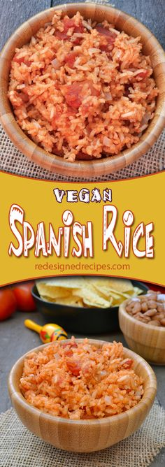 Vegan Spanish Rice – This Spanish Rice is an old family recipe that just happens to be vegan. It is delicious and is a perfect addition to any Mexican Food dish.