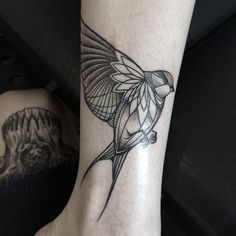 Bird line/geometric tattoo