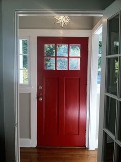 BM Heritage Red front door in my entry http://borntorenovate.com/