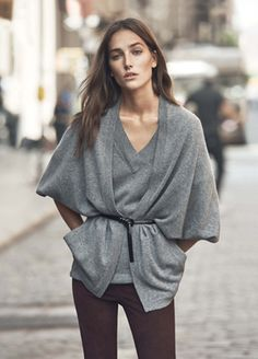 Lightweight poncho-ish look by Vince.