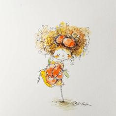 Sweet little Clementine is # 3 in my rainbow of girls 🌈🍊 Cute Illustration, Rooster, Rainbow, Sweet, Animals, Girls, Rain Bow, Candy, Toddler Girls