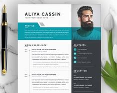 Professional CV Curriculum Vitae 2 Page Resume Simple Cv Template Word, Modern Resume Template, Resume Template Free, Cover Letter Template, Creative Resume Templates, Ticket Template, Resume Words, Resume Cv, Resume Design