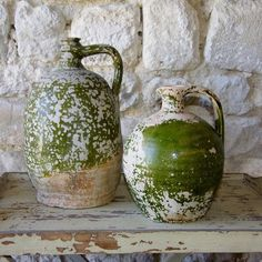 Antique French Pottery Jug: