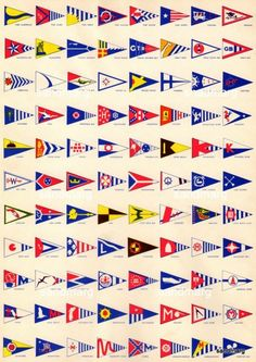 1940s Yacht Club Pennants