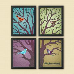 Four in One Family Tree Personalized 8 x 10 by YouMeSittingInATree, $55.00