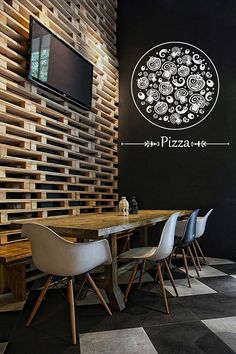 ik1068 Wall Decal Sticker Pizza Italian Restaurant Pizzeria