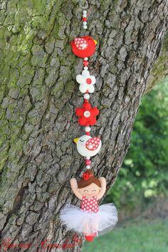 Girlanden & Wimpelketten - Ballerina Girlande mit Vögelchen - ein Designerstück von SecretCrochet bei DaWanda