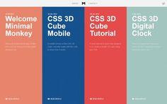 Minimal Monkey - Stephen Burgess - Interactive Developer - #Webdesign #inspiration www.niceoneilike.com