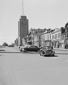 Russell Street looking north toward Police Headquarters 1960s. Melbourne, Australia.