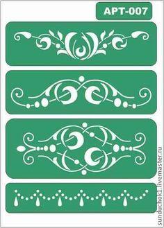 трафарет 007 - зелёный,трафарет,трафареты,Декупаж,материалы для декупажа