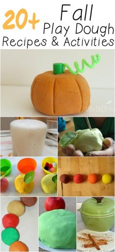 More than 20 Fall Play Dough recipes and activities