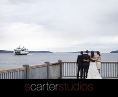www.scarterstudios.com, Seattle Wedding, Puget Sound waterfront and Ferry