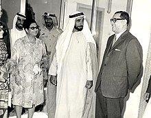 Umm Kulthum with Zayed bin Sultan Al Nahyan in Abu Dhabi in World Handsome Man, Umm Kulthum, Arab Men, Famous Singers, United Arab Emirates, Famous People, Chef Jackets, Coat, Abu Dhabi