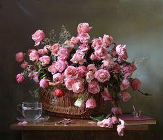 Розовые розы... Светке Соколовой...