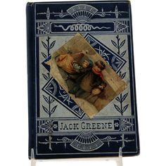 Jack Greene Illustrated Book for Children Black and White Engravings Embossed Blue and Silver Cover circa 1877 from Antik Avenue on Ruby Lane