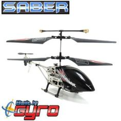 Saber 3.5ch Gyro Metal Ir Helicopter by Saber. $28.99. Heli, fly, remote control. IT FLIES FORWARD, BACKWARD, UP, DOWN, LEFT, RIGHT AND HOVERS! Grab the controls and get ready to fly and soar through the sky like never before with the GYRO Metal Saber 3.5CH Electric RTF RC Helicopter! This great RC helicopter comes with the greatest advancement in Helicopter Technology, a Gyro. No more crashing, no more replacing parts, the GYRO has changed the Helicopter industry compl...