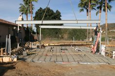 WEEK 7 (01-19-15) STEEL INSTALLATION: Number 2 slides into place on the money.