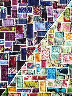Ticker Tape Quilt! Just when you thought you should throw away your scraps...