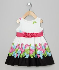 Look at this #zulilyfind! White Summer Butterfly Dress - Infant, Toddler & Girls by Dress Up Dreams Boutique #zulilyfinds